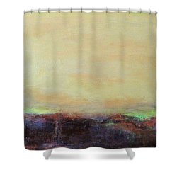 Abstract Landscape - Rose Hills Shower Curtain