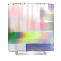 Abstract Landscape Shower Curtain by Sonali Gangane