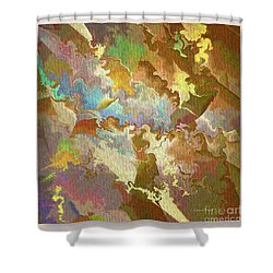 Abstract Puzzle Shower Curtain by Deborah Benoit
