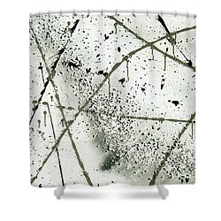 Shower Curtain featuring the painting Abstract Remnants Of The Big Bang by Chriss Pagani