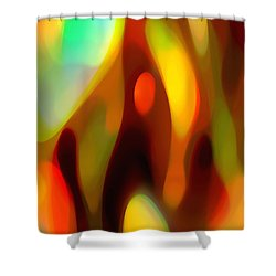 Abstract Rising Up Shower Curtain by Amy Vangsgard