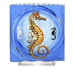 Abstract Sea Horse Shower Curtain by J Vincent Scarpace