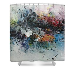 Abstract Seascape00117 Shower Curtain by Seon-Jeong Kim