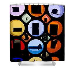Abstract Stuff Shower Curtain