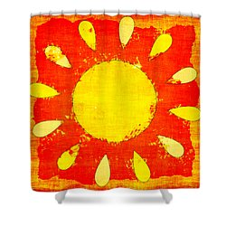 Abstract Sun Shower Curtain by David G Paul