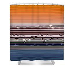 Abstract Sunset Shower Curtain by Michelle Calkins