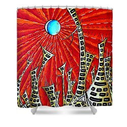 Abstract Surreal Art Original Cityscape Painting The Eternal City By Madart Shower Curtain by Megan Duncanson