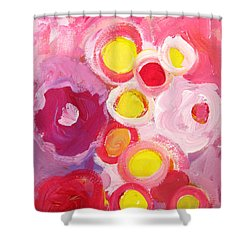 Abstract V Shower Curtain