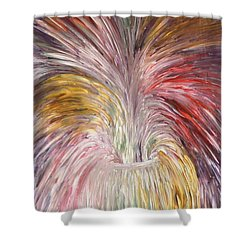 Abstract Vase And Energy Mouvement Shower Curtain by Georgeta  Blanaru