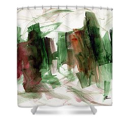 Shower Curtain featuring the painting Abstract Watercolor 51 by Chriss Pagani