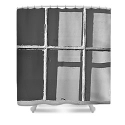 Abstract Window In Light And Shadow Shower Curtain
