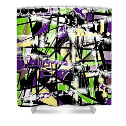 Abstract80z Shower Curtain