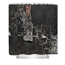Abstrait En Do Majeur A2 Shower Curtain by Aimelle