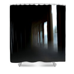 Shower Curtain featuring the mixed media Abyss by Terence Morrissey