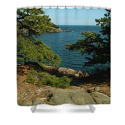 Acadia In Maine Shower Curtain by Rick Frost
