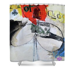 Shower Curtain featuring the painting Ace Of Clubs 36-52 by Cliff Spohn
