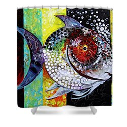 Acidfish 70 Shower Curtain by J Vincent Scarpace
