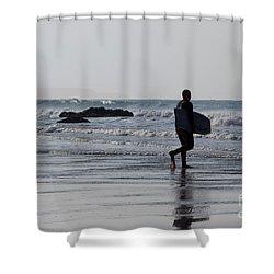 Acquaman Shower Curtain by Brian Roscorla