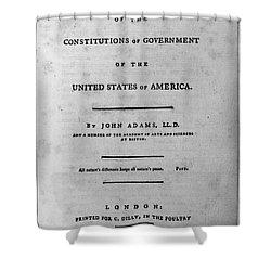 Adams: Title Page, 1787 Shower Curtain by Granger