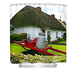 Shower Curtain featuring the photograph Adare Cottage by Charlie and Norma Brock