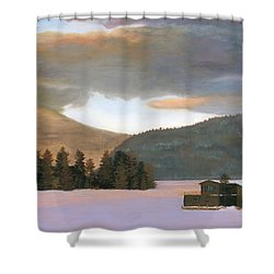 Adirondack Morning Shower Curtain