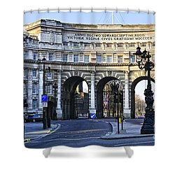 Admiralty Arch In Westminster London Shower Curtain by Elena Elisseeva