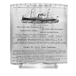 Advertisement: Steamship Shower Curtain by Granger