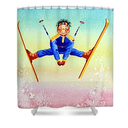 Aerial Skier 17 Shower Curtain by Hanne Lore Koehler