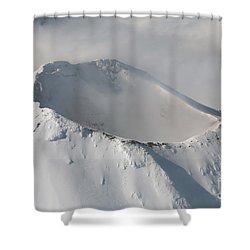 Aerial View Of Summit Of Shishaldin Shower Curtain by Richard Roscoe