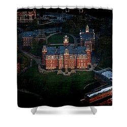 Aerial Woodburn Hall In Evening Shower Curtain by Dan Friend