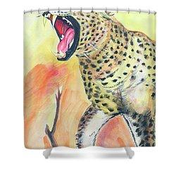 African Leopard Shower Curtain