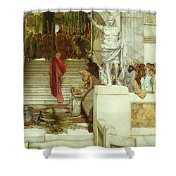 After The Audience Shower Curtain by Sir Lawrence Alma-Tadema
