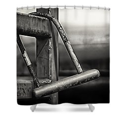 Shower Curtain featuring the photograph After The Horse Has Bolted by Tom Gort