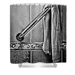 After The Shower - Bw Shower Curtain by Christopher Holmes
