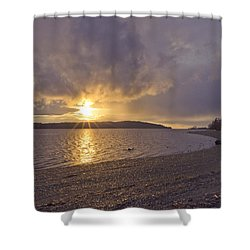After The Storm Shower Curtain by Priya Ghose