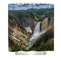 Afternoon At Lower Yellowstone Falls Shower Curtain