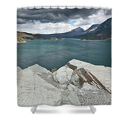 Afternoon At St. Mary Lake Shower Curtain