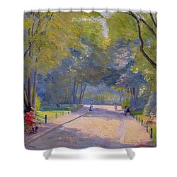 Afternoon In The Park Shower Curtain by Hippolyte Petitjean