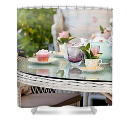 Afternoon Tea And Cakes Shower Curtain by Simon Bratt Photography LRPS