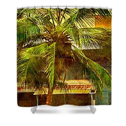 Aged Hawaiian Shower Curtain by Paulette B Wright
