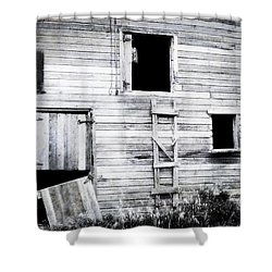 Aging Barn  Shower Curtain by Julie Hamilton