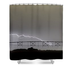 Agricultural Irrigation Lightning Bolts Shower Curtain by James BO  Insogna
