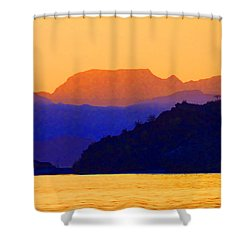 Agua Verde Abstract Shower Curtain by Anne Mott