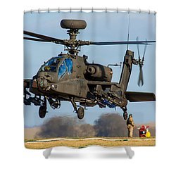 Ah64 Apache Shower Curtain