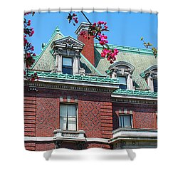 Ahh Buffalo  Shower Curtain by Guy Whiteley