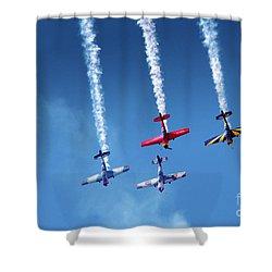 Air Show Shower Curtain by Carlos Caetano