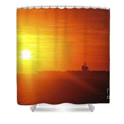 Aircraft Carrier Uss Enterprise Shower Curtain by Stocktrek Images
