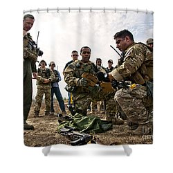 Airmen Explain Their Evidence Gathering Shower Curtain by Stocktrek Images