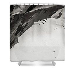 Akkem Wall. Western Plateau Shower Curtain by Konstantin Dikovsky
