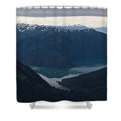 Alaska Coastal Serenity Shower Curtain by Mike Reid